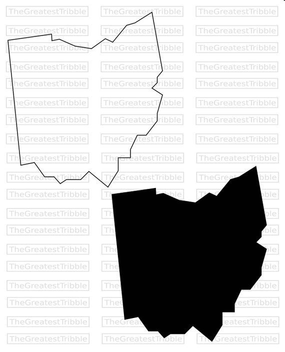 570x704 Ohio State Map Svg Png Jpg Vector Graphic Clip Art Ohio State Etsy