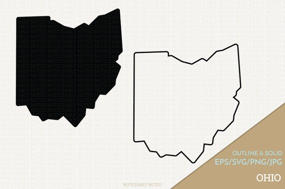 570x379 Ohio Vector State Clipart Oh Clip Art Ohio Svg State Png Etsy