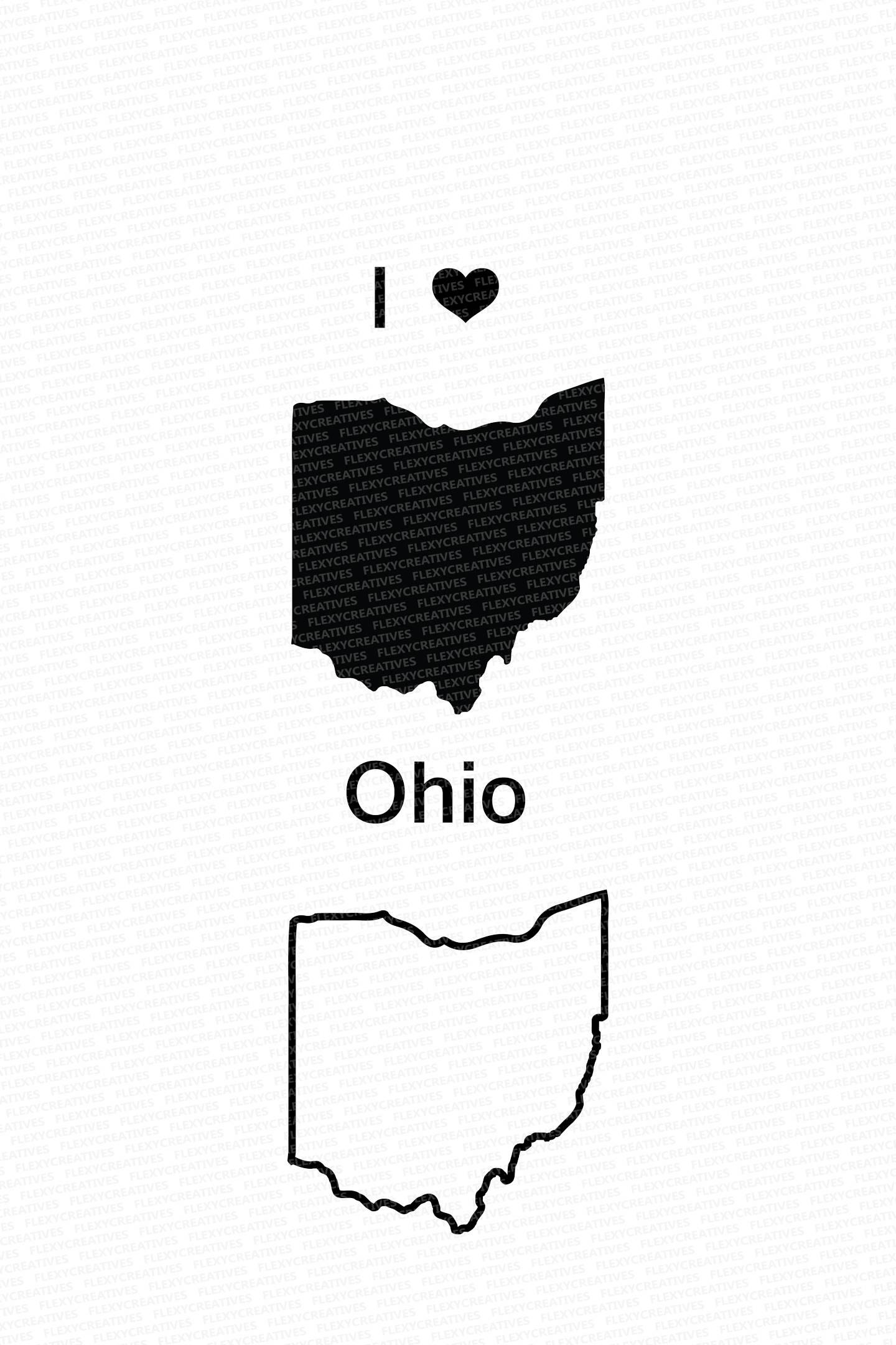 1440x2160 Ohio Vector State Clipart Ohio Clip Art Ohio Map Clip Art Etsy