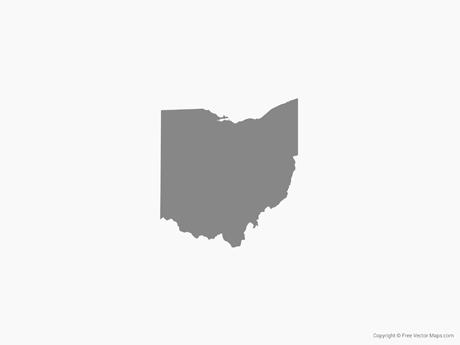 460x345 Vector Map Of Ohio