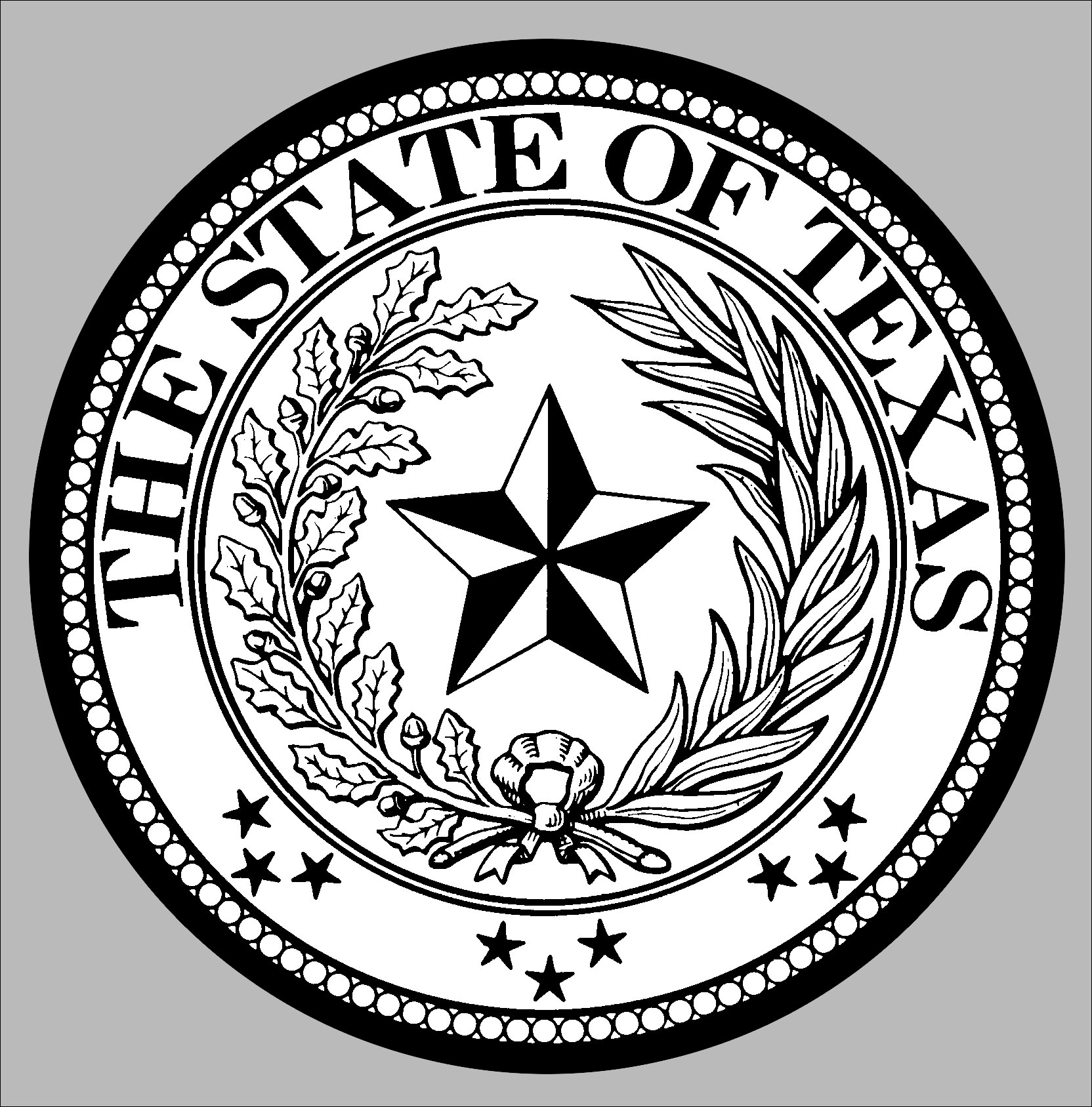 1664x1688 State Seal Of Texas Clip Art