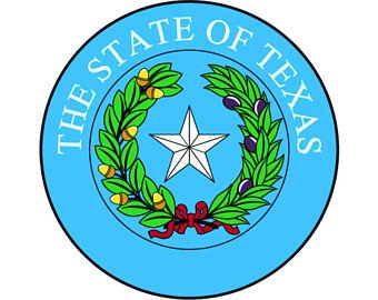 340x270 State Of Texas Seal Etsy