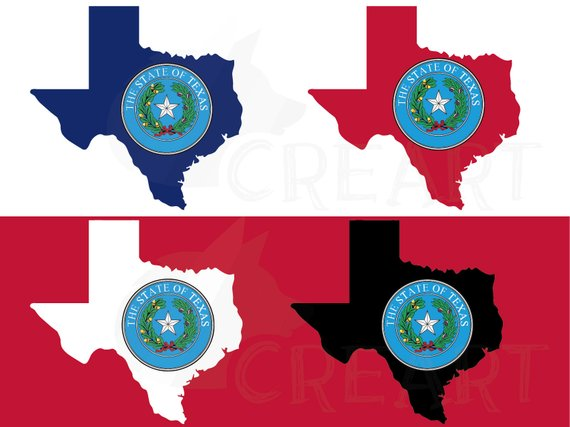 570x427 Texas State Seal And Map Flag Clip Art Collection. Ai Eps Etsy