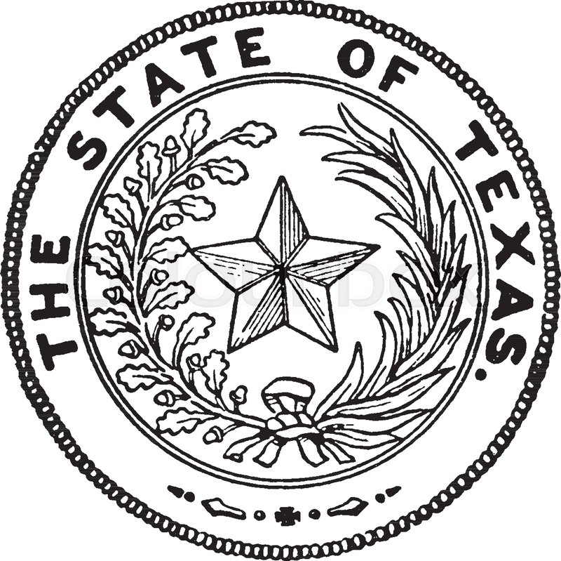800x799 The Seal Of Texas, This Circle Shape Seal Has Star Of Five Points