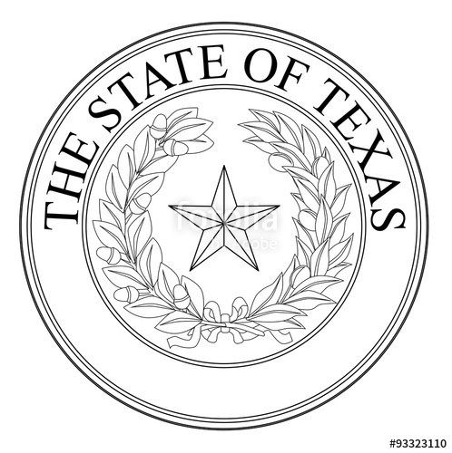 498x500 The State Of Texas Seal Stock Image And Royalty Free Vector Files