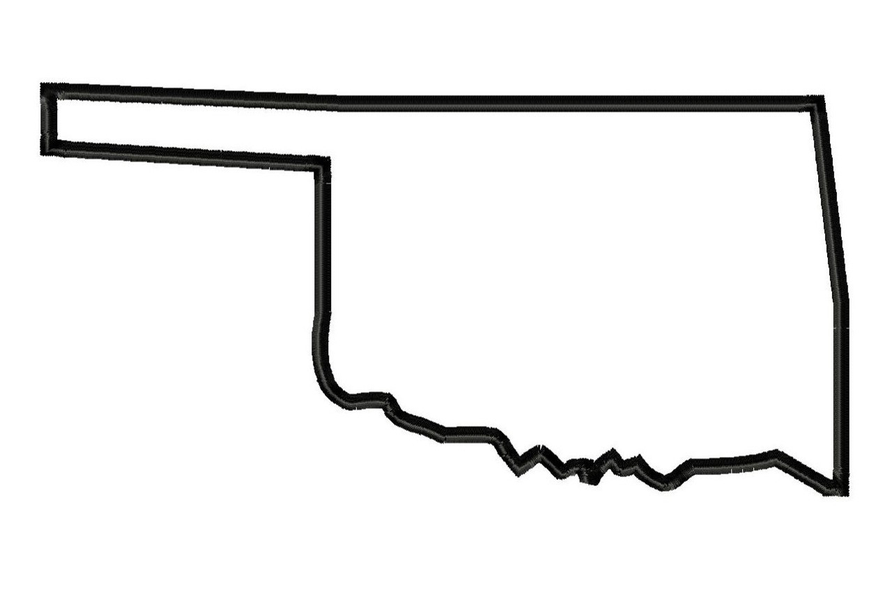 1280x883 Map Of Cities Picture Oklahoma State Outline Vector 6