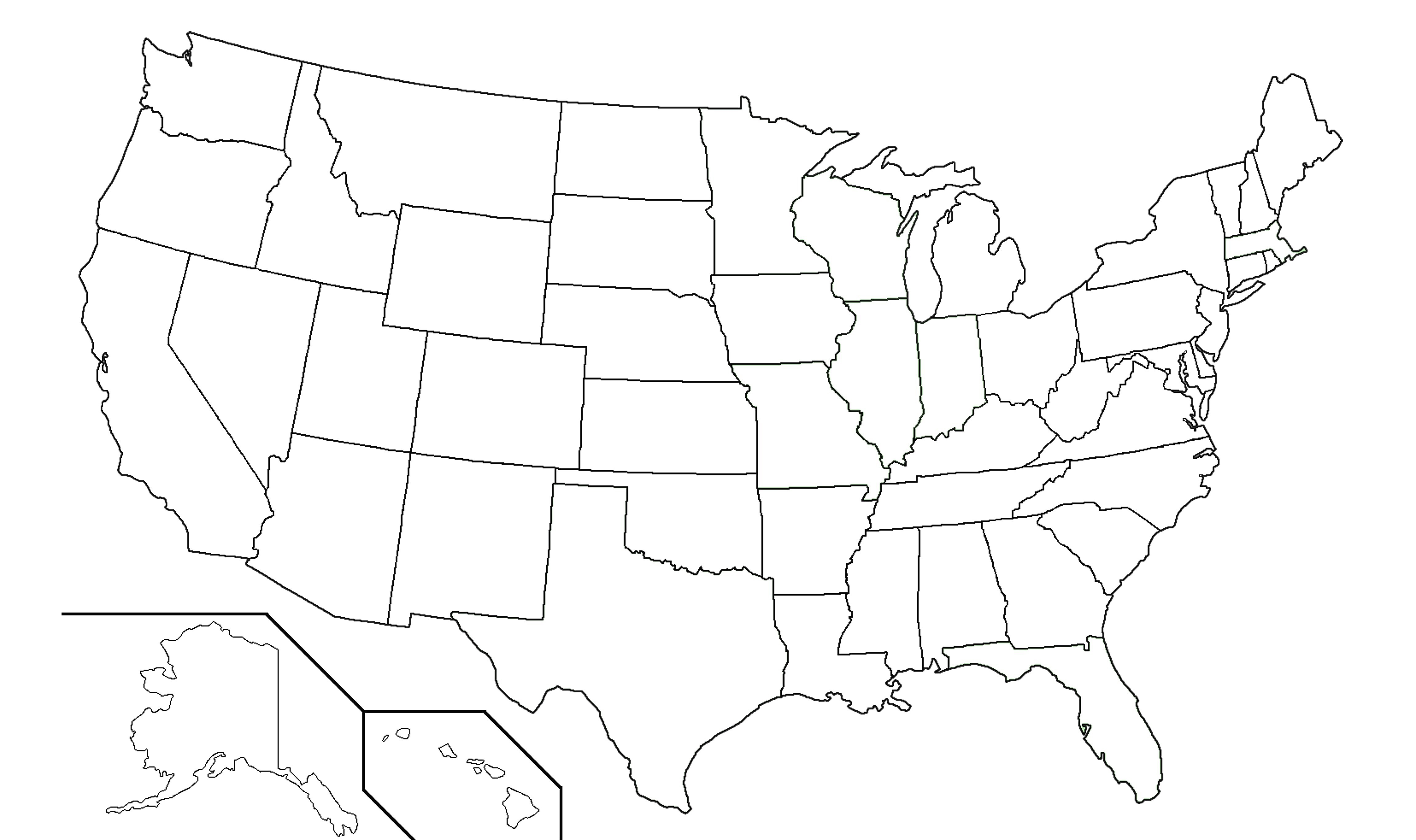 4603x2731 Us Map Black And White Vector Us Map Black And White Outline