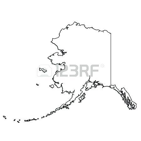 450x450 Alaska Outline Outline Vector Map Alaska State Outline Image