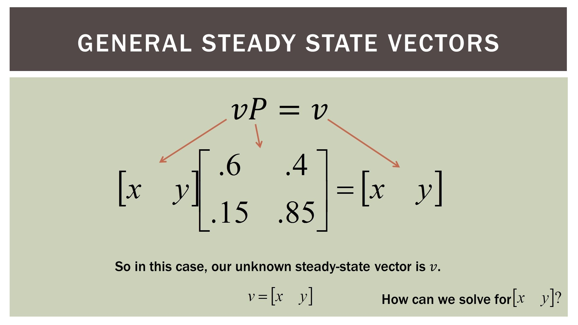 1920x1080 Finite Math Markov Steady State Vectors