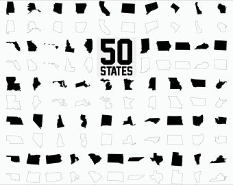 340x270 50 State Clipart Etsy