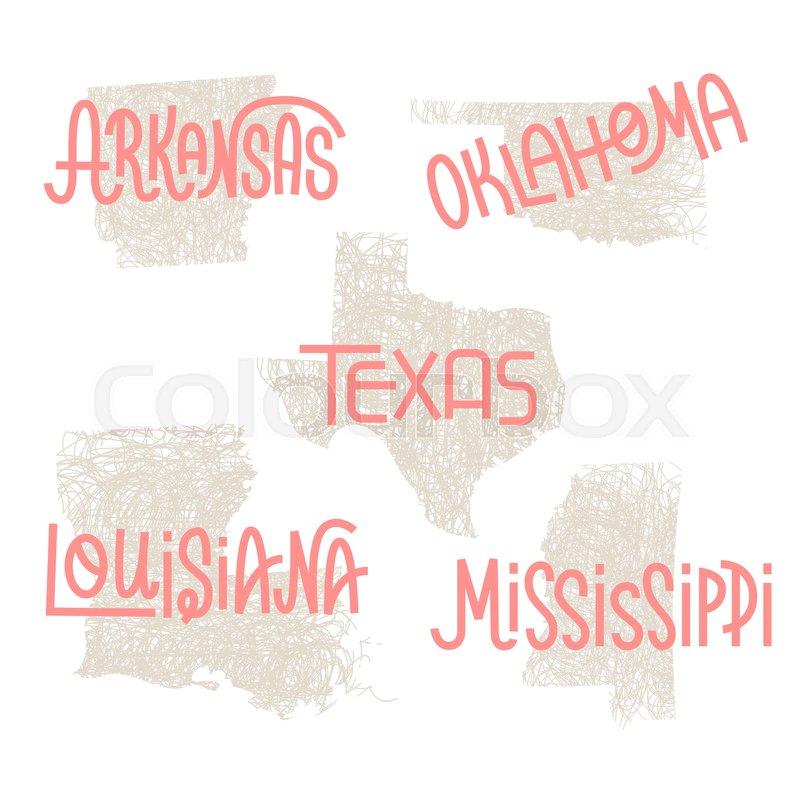 800x800 Arkansas, Oklahoma, Texas, Louisiana, Mississippi Usa State