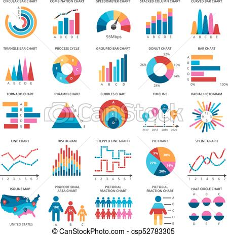 450x466 Color Finance Data Chart Vector Icons. Statistics Colorful