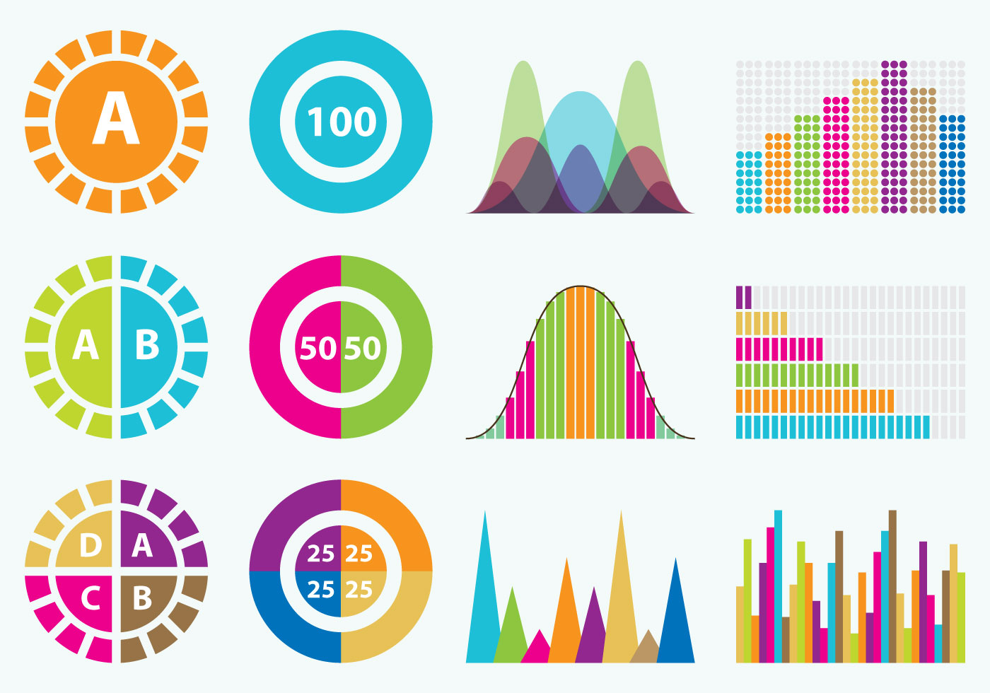 1400x980 Colorful Statistics Icons