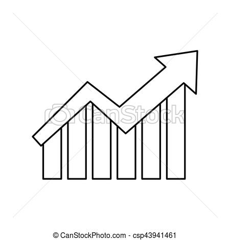 450x470 Growth Up Statistics Icon Vector Illustration Graphic Design.