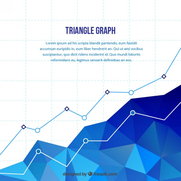 626x626 Polygonal Statistics Chart Vector Free Download