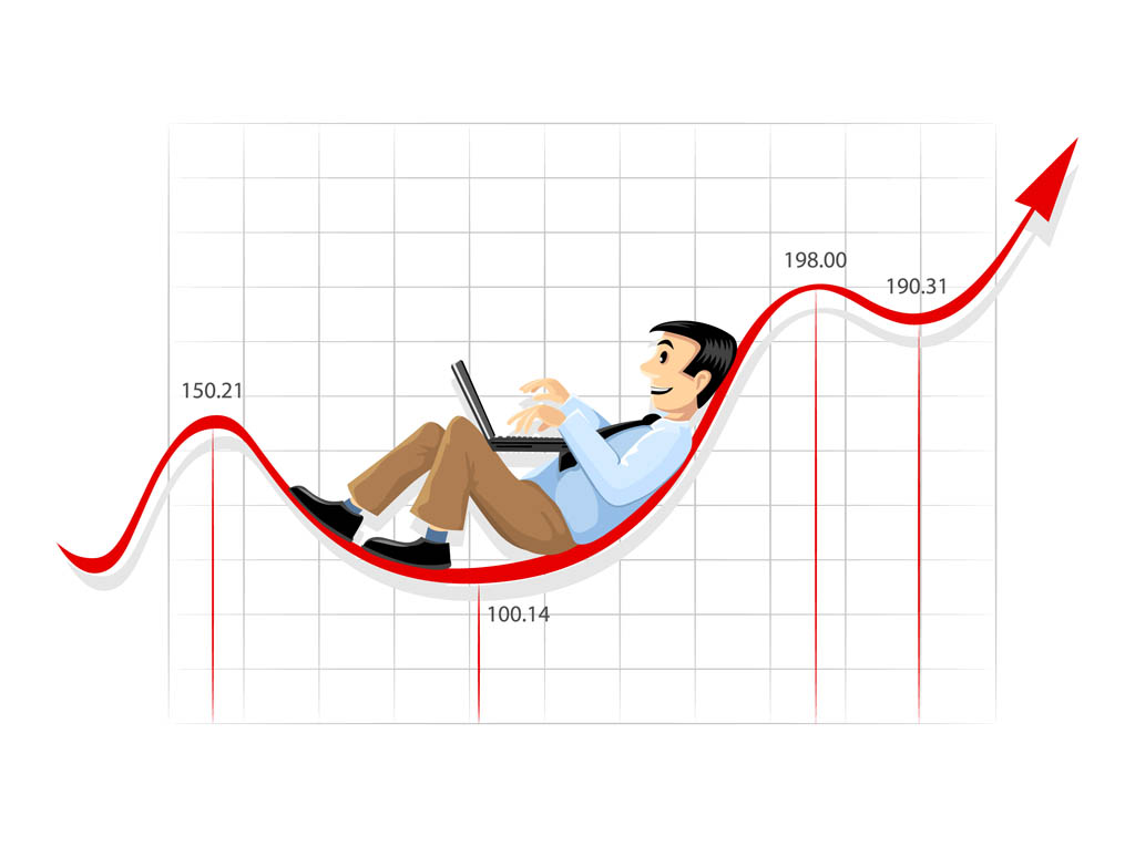 1024x765 Businessman And Graph Vector Art Amp Graphics