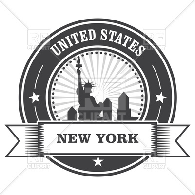 400x400 New York Emblem With Statue Of Liberty Vector Image Vector