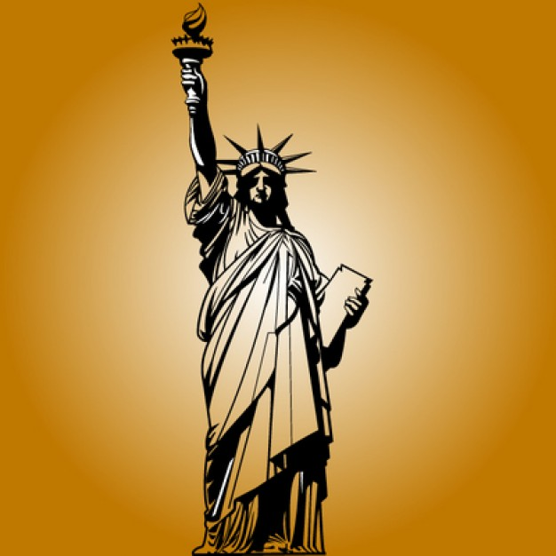 626x626 New York Landmark Statue Of Liberty Vector Free Download