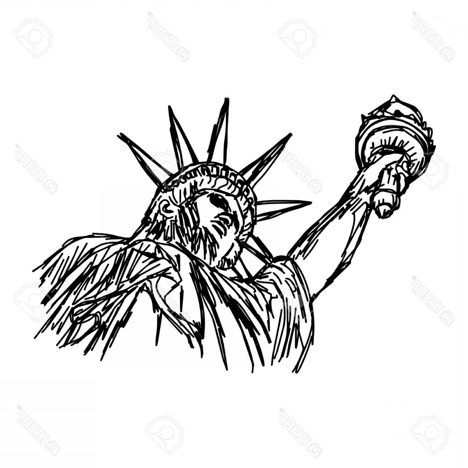 1560x1560 Photostock Vector Statue Of Liberty Vector Illustration Sketch