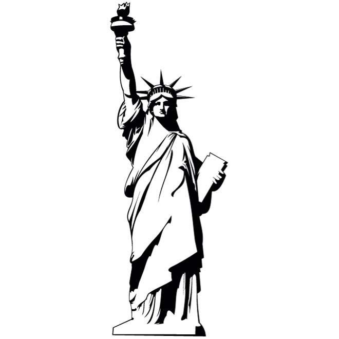 660x660 Statue Of Liberty Vector.eps Vector Images For Commercial Use