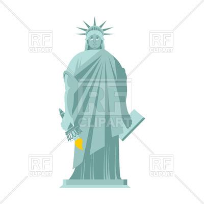 400x400 Sad Statue Of Liberty Vector Image Vector Artwork Of