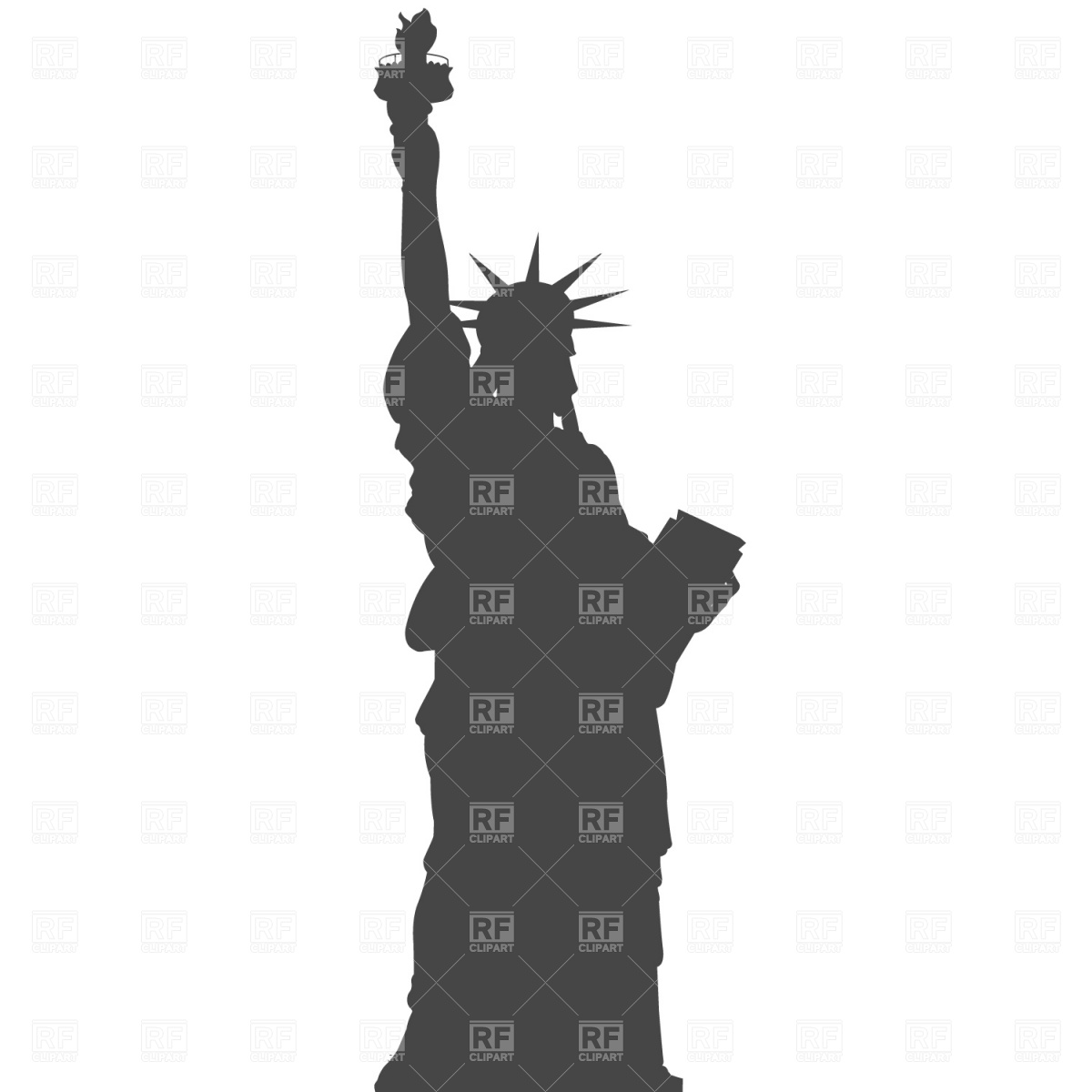 1200x1200 Silhouette Of Statue Of Liberty In New York Vector Image Vector