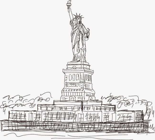 650x589 American Statue Of Liberty Vector Artwork, Vector, United States