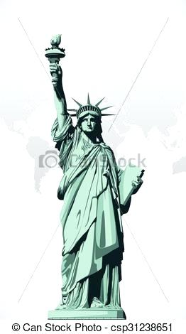 262x470 Statue Of Liberty Clipart Free Statue Liberty Vector Image Statue