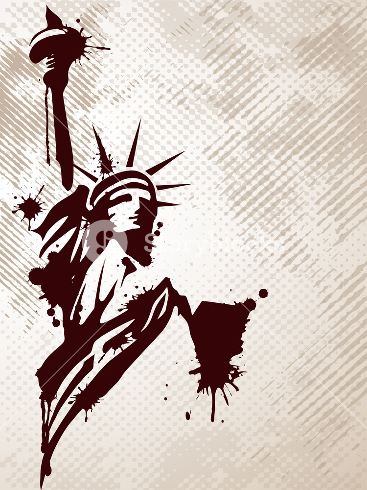 750x1000 Statue Of Liberty. Vector Illistration. Royalty Free Stock Image