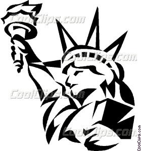 279x300 Statue Of Liberty Vector Clip Art