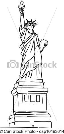 224x470 American Statue Of Liberty For Travel Industry Design.