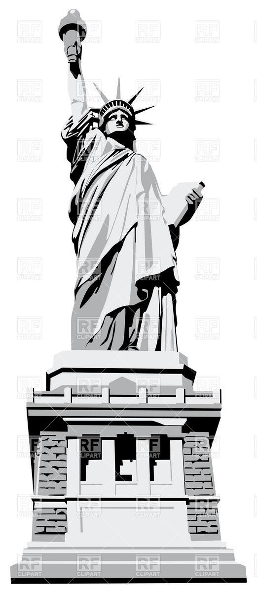 521x1200 Statue Of Liberty Vector Image Vector Artwork Of Objects