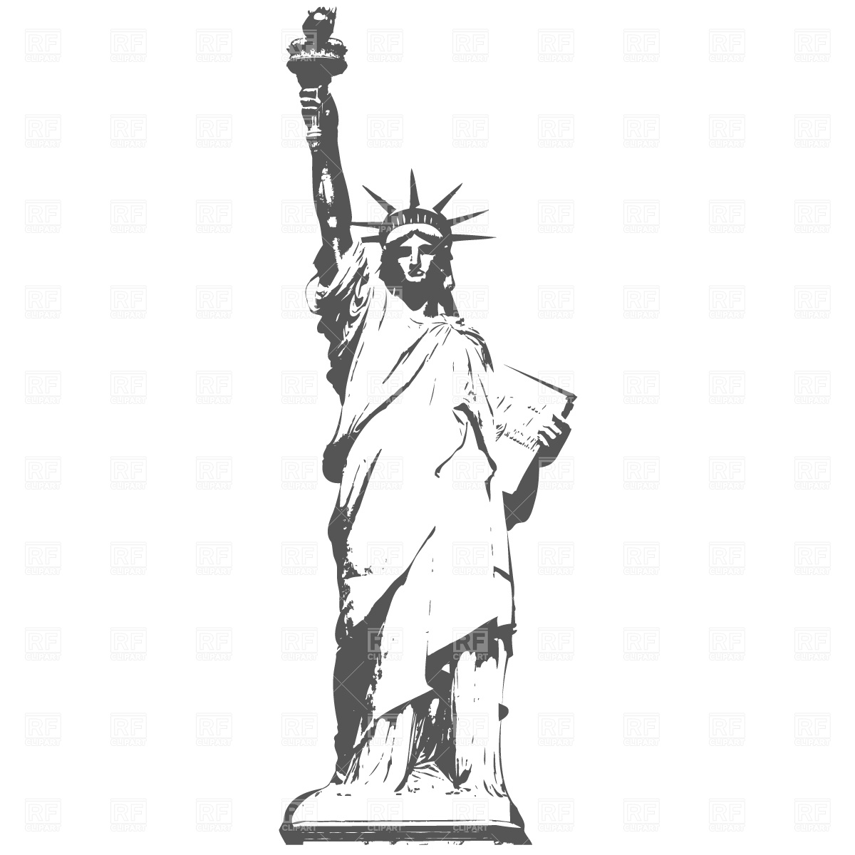 1200x1200 Statue Of Liberty In New York Free Vector Image Vector Artwork