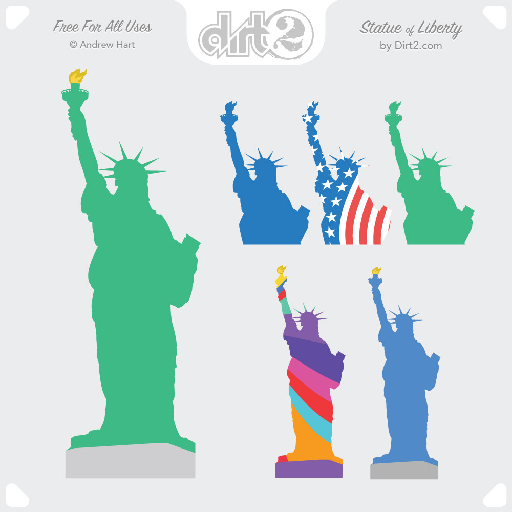 1000x1000 Free Statue Of Liberty Vector By