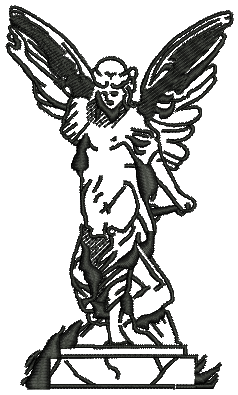 238x395 Angel Statue Vector Embroidery Design Cool Embroidery Design