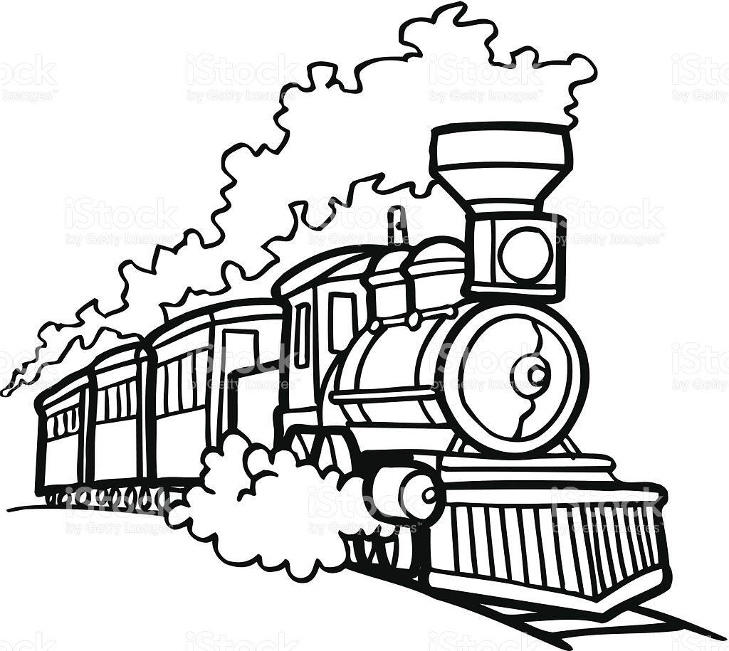1024x915 Old Choo Choo Train Vector Cartoon Clipart Design Illustration