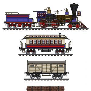 300x300 The Vintage American Steam Train Vector Orangiausa