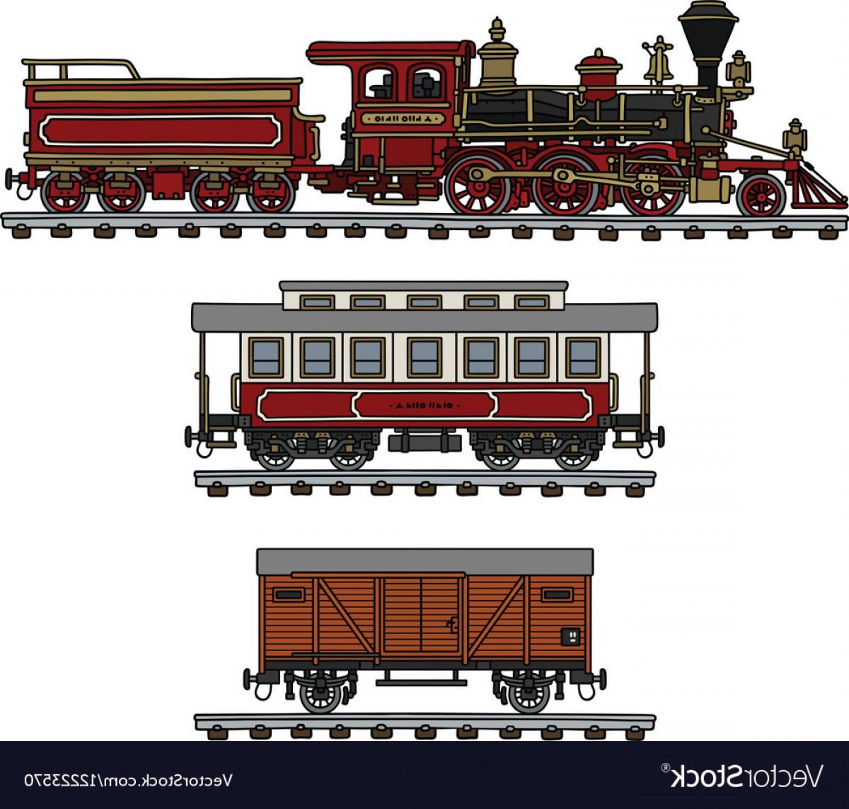 1200x1143 Vintage American Steam Train Vector Orangiausa