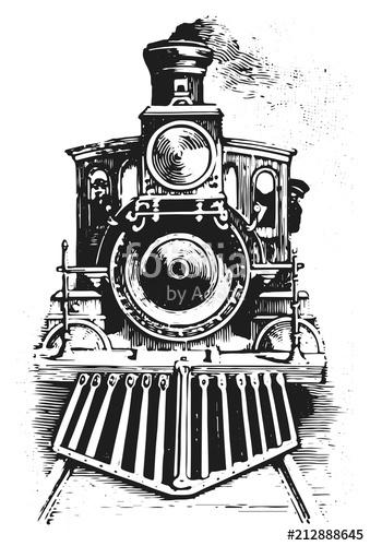 339x500 Steam Locomotive Railway