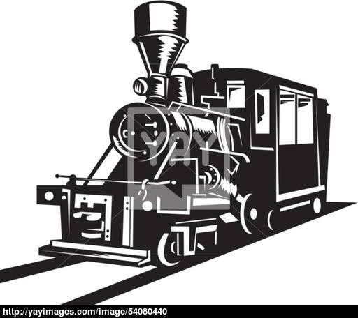 512x456 Vintage Steam Train Locomotive Vector