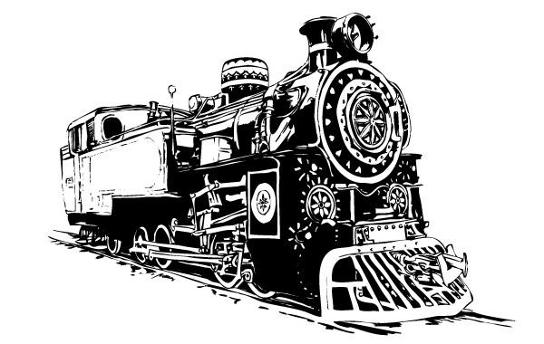 600x380 Locomotive Vector Vector Free Download