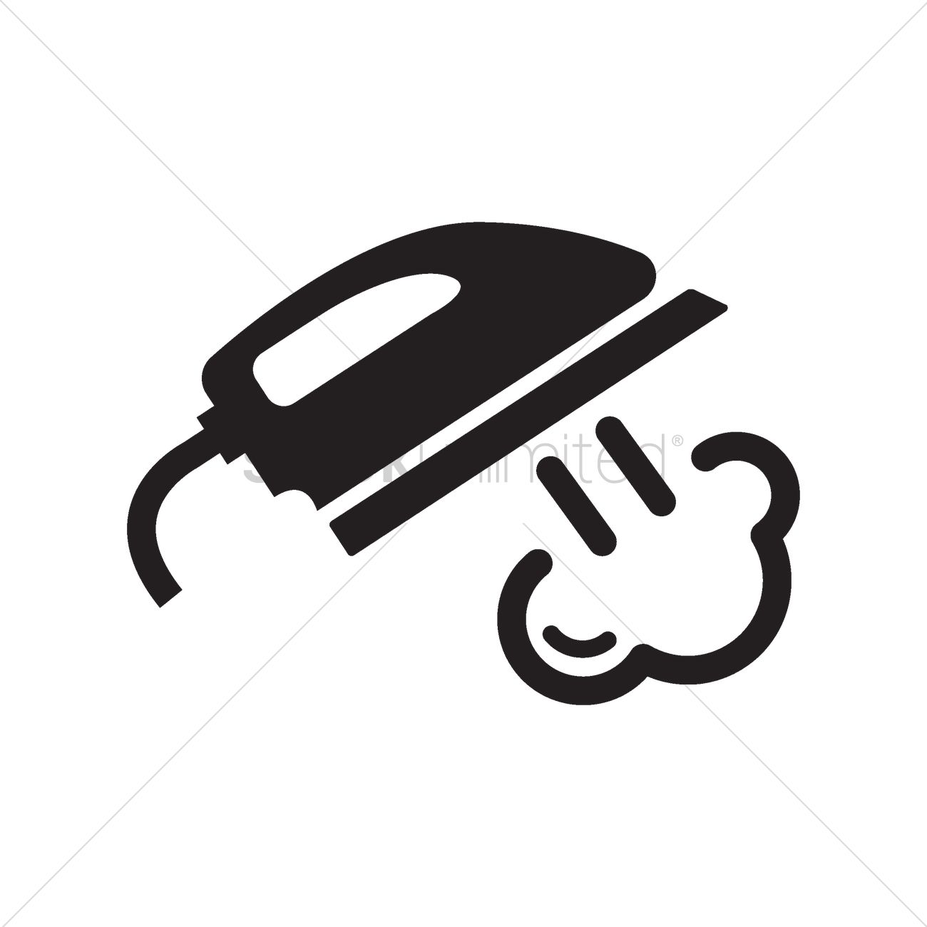 1300x1300 Steam Iron Vector Image
