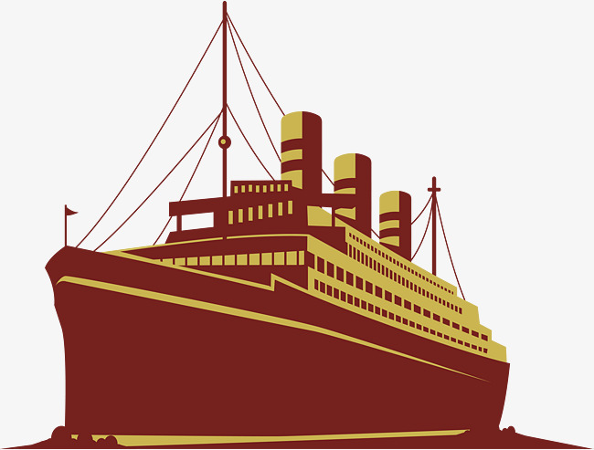650x493 Retro Cruise Ship At Sea, Vector Png, Cruise Ship, Sea Cruise Ship