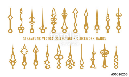 500x300 Steampunk Collection (Isolated On White)