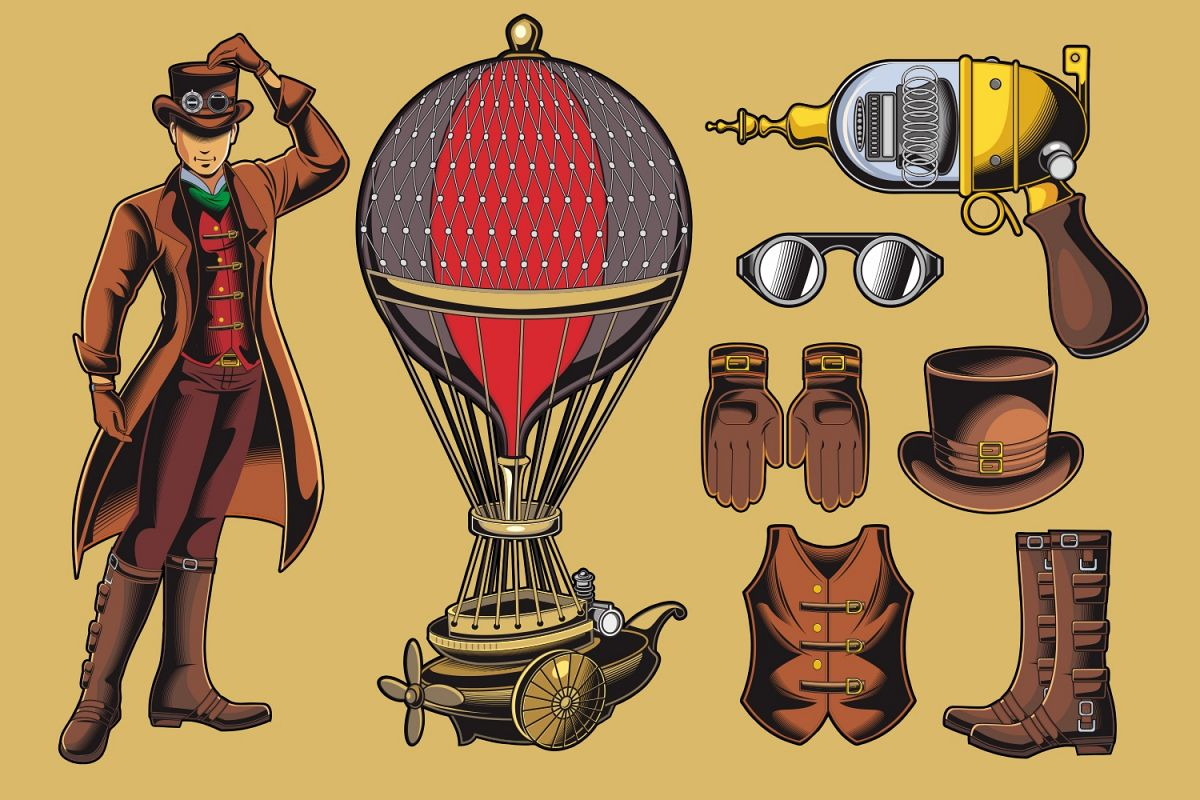 1200x800 Steampunk Vector Pack