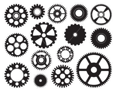 380x304 15 Steampunk Gears Free Vector Art Images