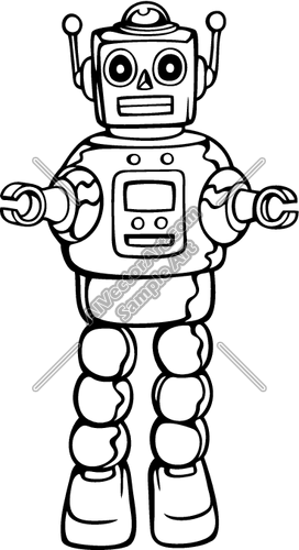 272x500 Robot01nc2bw Clipart And Vectorart Misc Graphics