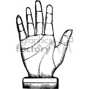 300x300 Royalty Free Vintage Steampunk Hand Vector Vintage 1900 Vector Art