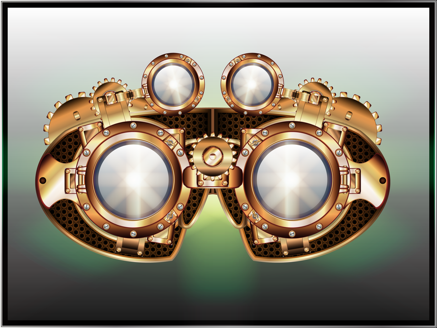 900x675 Steampunk Googles By Illustratorg