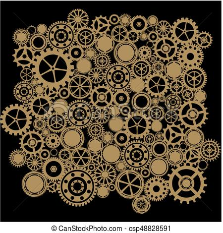 450x470 Steampunk Gears Background Eps Vectors